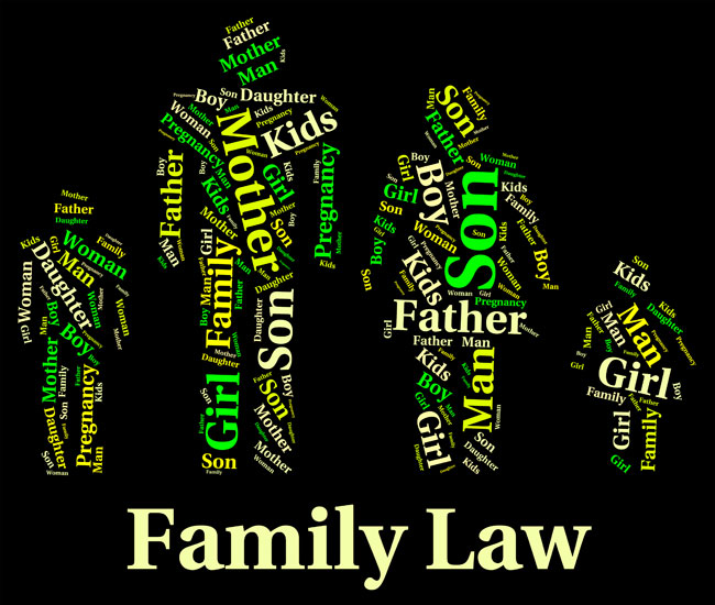 Words associated with Family Law, one of several legal services offered by Coley Hennessy Cassis, a law office in south Edmonton that also handles Wills and Estates and Real Estate law.